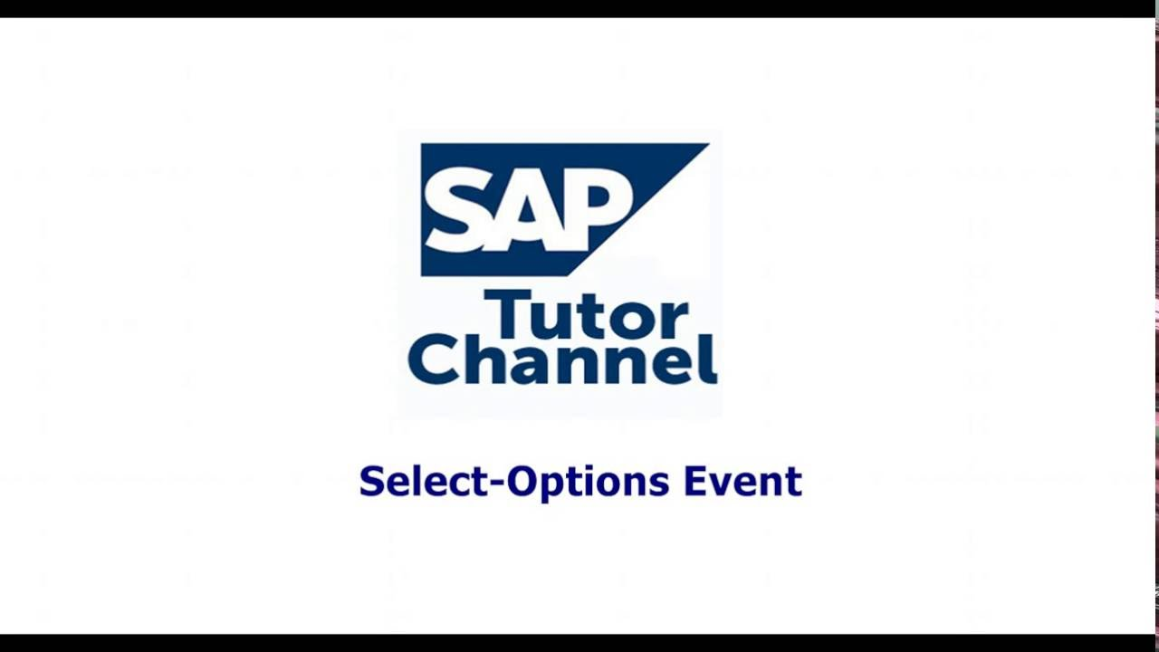 Select Options Event