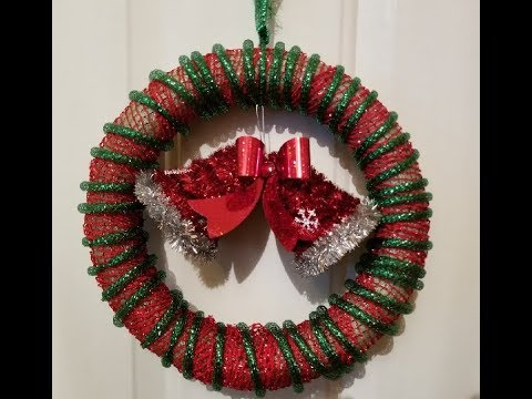 How To Make An Easy Dollar Store Christmas Wreath