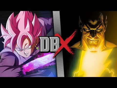 Goku Black VS Black Adam (Dragon Ball Super VS DC Comics) | DBX