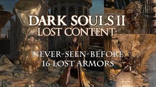Dark Souls 2 Cut / Unused Content: 16 Armor Sets