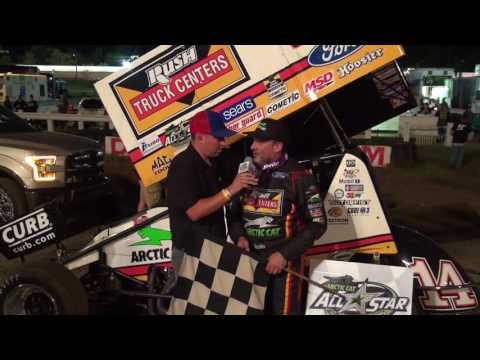 Tony Stewart Visits And Wins At Pittsburgh Pa motor speeway 7-23-2017