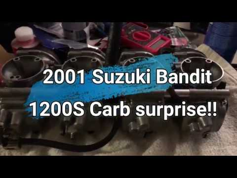 2001 suzuki bandit 1200s carb surprise youtube. Black Bedroom Furniture Sets. Home Design Ideas