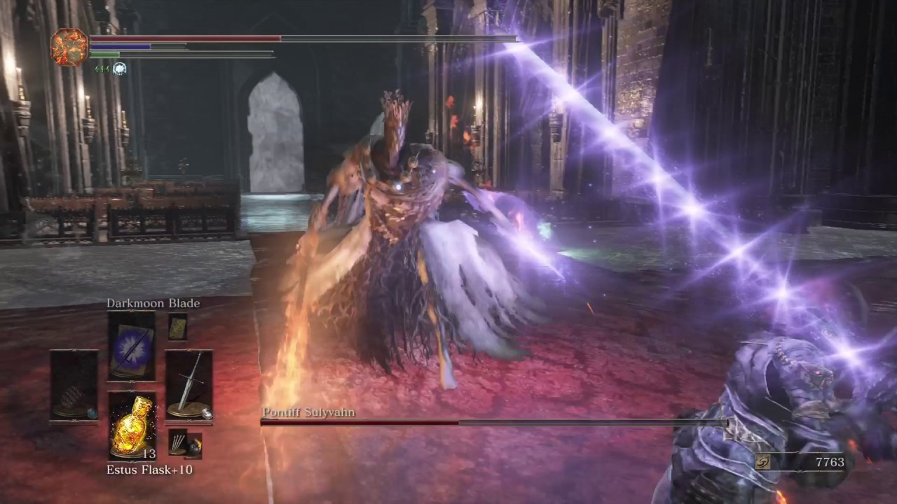 DARK SOULS 3 - Pontiff Sulvhan NG+5 Destroyed Dex/Faith build