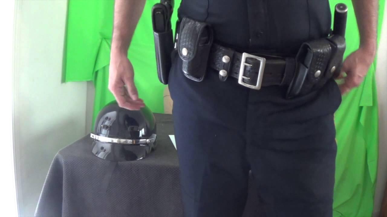 police officer duty belt set up