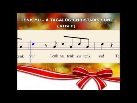 Q30b Tenk Yu - A Tagalog Christmas Song (Alto 1)