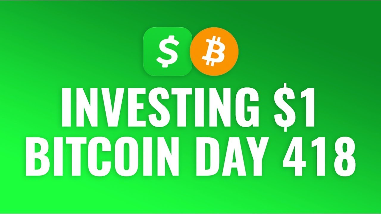 Investing $1 Bitcoin Every Day with Cash App - DAY 418 1