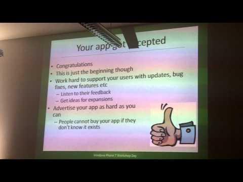 Windows Phone 7 development talk in Zurich University