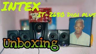 Unboxing of Intex 4.1 Computer Multimedia Speakers IT-2650 Digi Plus under 2000 (HINDI/हिंदी)