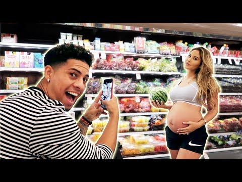EMBARRASSING PREGNANCY PHOTOSHOOT IN TARGET **WE ALMOST GOT KICKED OUT**