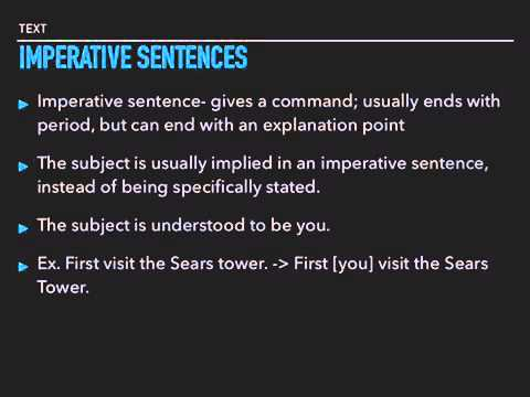 Inverted Sentences/Understood Subjects/ Subjects in different Parts of Sentences