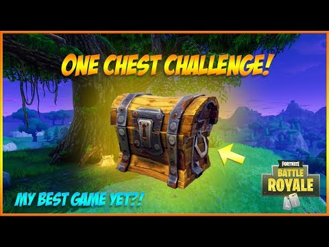 ONE CHEST CHALLENGE! *INTENSE* Fortnite Battle Royale - Best Game So Far! // Suppl Gaming