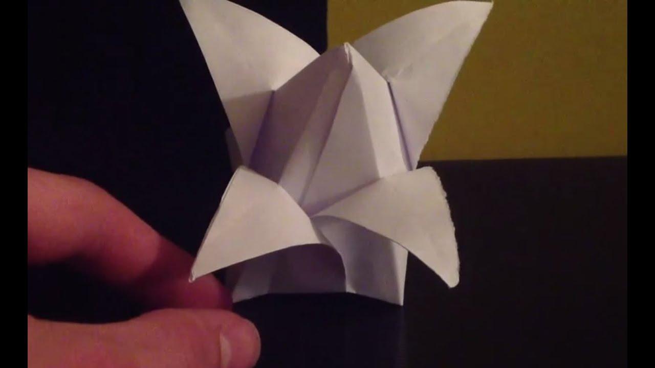 Origami Bouton De Lotus Faire Une Fleur En Pliage Youtube