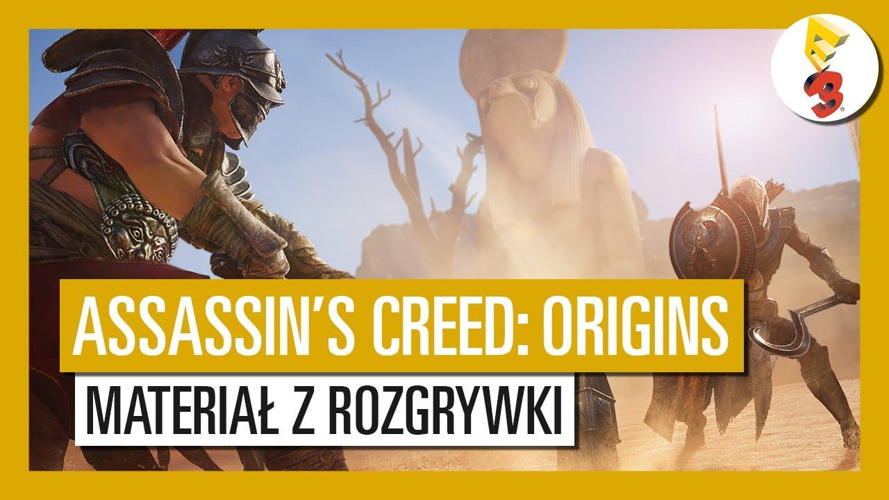 Assassin's Creed Origins: materiał z rozgrywki z targów E3 2017