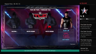 WWE 2k18 ejaculation chamber with the dark society