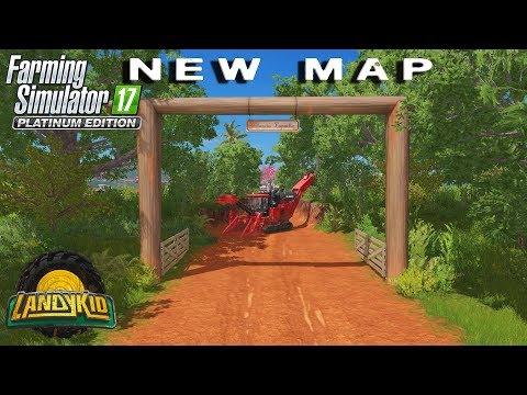 Farming Simulator 17 platinum | NEW MAP first look