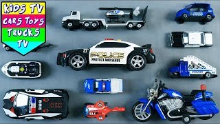 🔴Learn police vehicles for children | Toy videos