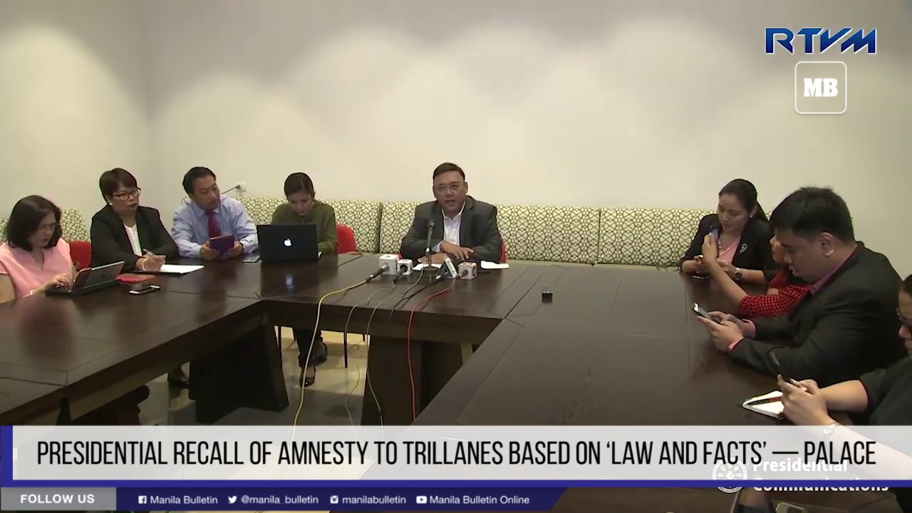 Presidential recall of amnesty to Trillanes based on 'law and facts' — Palace