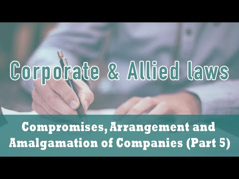 CAA of Companies - Part 5 | Reconstruction by Sale of Shares/Takeovers | Section 395