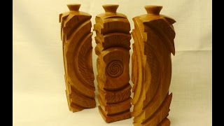 woodturning multy axis vases