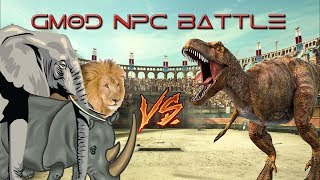 [FAN REQUEST] DINOSAURS VS WILD ANIMALS! (GMOD NPC BATTLE)