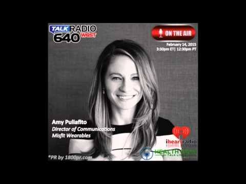 Amy Puliafito Director of Communications of Misfit Interviewed on Health Tech Talk Live
