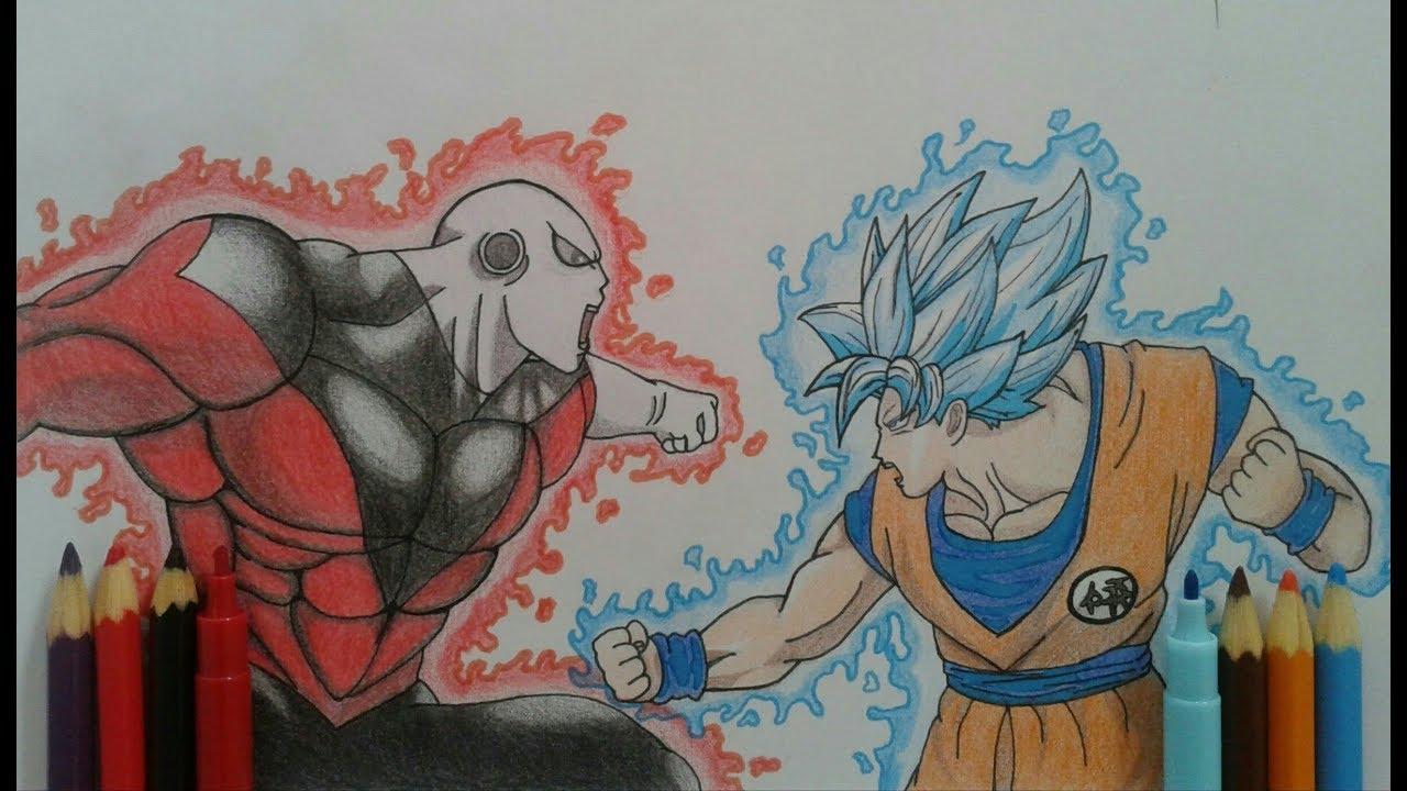 Desenhando goku ssj blue vs jiren ryan hatake art youtube - Pintura instinto ...
