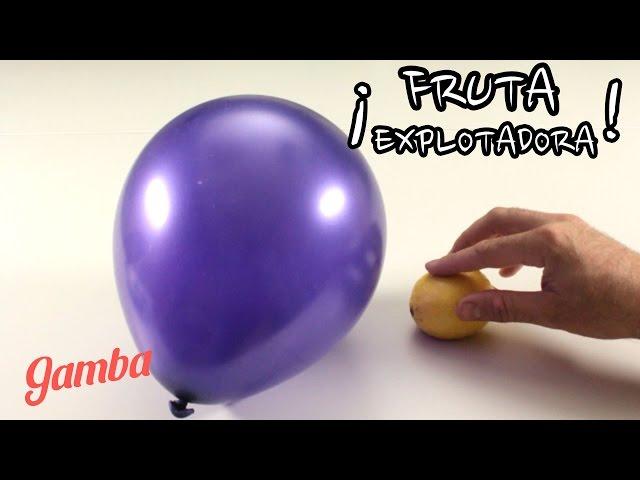 Canal Gamba Como Explotar Un Globo A Distancia Experimento Para - Experimentos-para-nios-con-globos