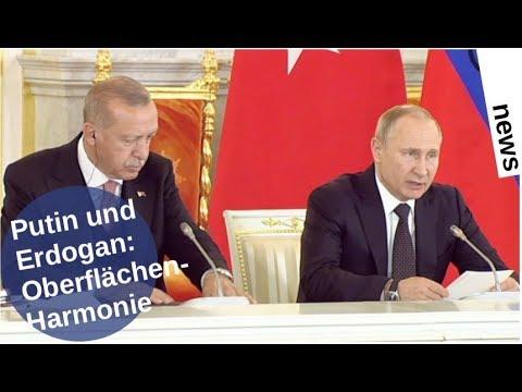 Putin und Erdogan: Oberflächen-Harmonie