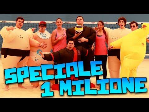 SUMO BEACH VOLLEY CHALLENGE - SPECIALE 1 MILIONE w/ Mates, Favij & Klaus