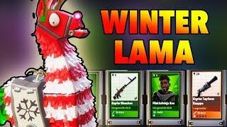 Neue Winter Lamas Opening! Fortnite Rette die Welt