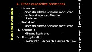 Hormonal Extrinsic Control of Blood Flow (2 of 4)