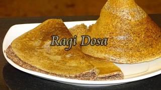 How to prepare ragi dosa batter