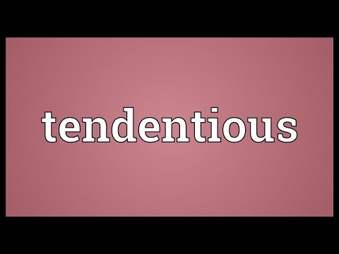 Tendentious Meaning