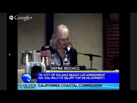 Blufftop Development planning in Solano Beach at Coastal Commission in San Diego