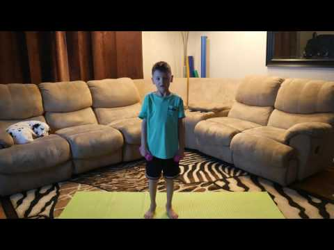 Kids 5 Minute Dumbbell Workout!