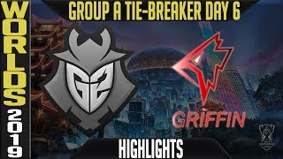 G2 vs GRF Highlights TIE-BREAKER | S9 Worlds 2019 Group A Day 6 | G2 Esports vs Griffin