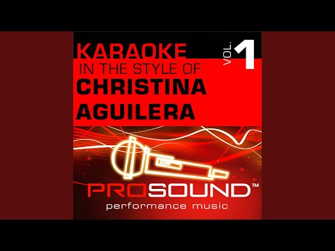 I Turn To You (Karaoke Instrumental Track) (In The Style Of Christina Aguilera)