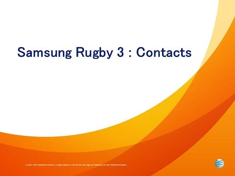 Samsung Rugby 3: Contacts