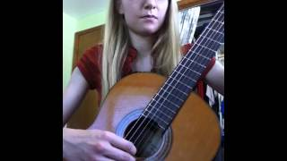 River flows in you guitar practice video