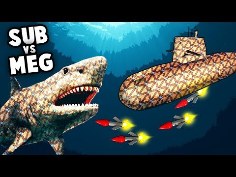 MEGALODON vs SUBMARINE! Intense UNDERWATER Battle! (Forts Multiplayer Gameplay) |
