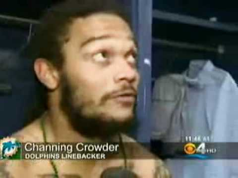 LaRon McLain spits on Channing Crowder