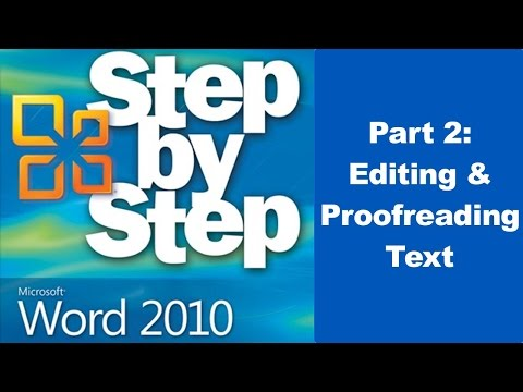 Editing and Proofreading Text In Microsoft Word 2010 - Part 2
