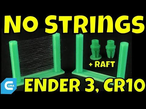 Cura Settings for Retraction and Raft on Ender 3 or CR-10 Mini