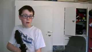 KID SHOOTS SCREEN WITH AIRSOFT GUN