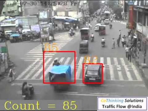 CoThinking Traffic Flow Video @Pune, India For Red Light Enforcement