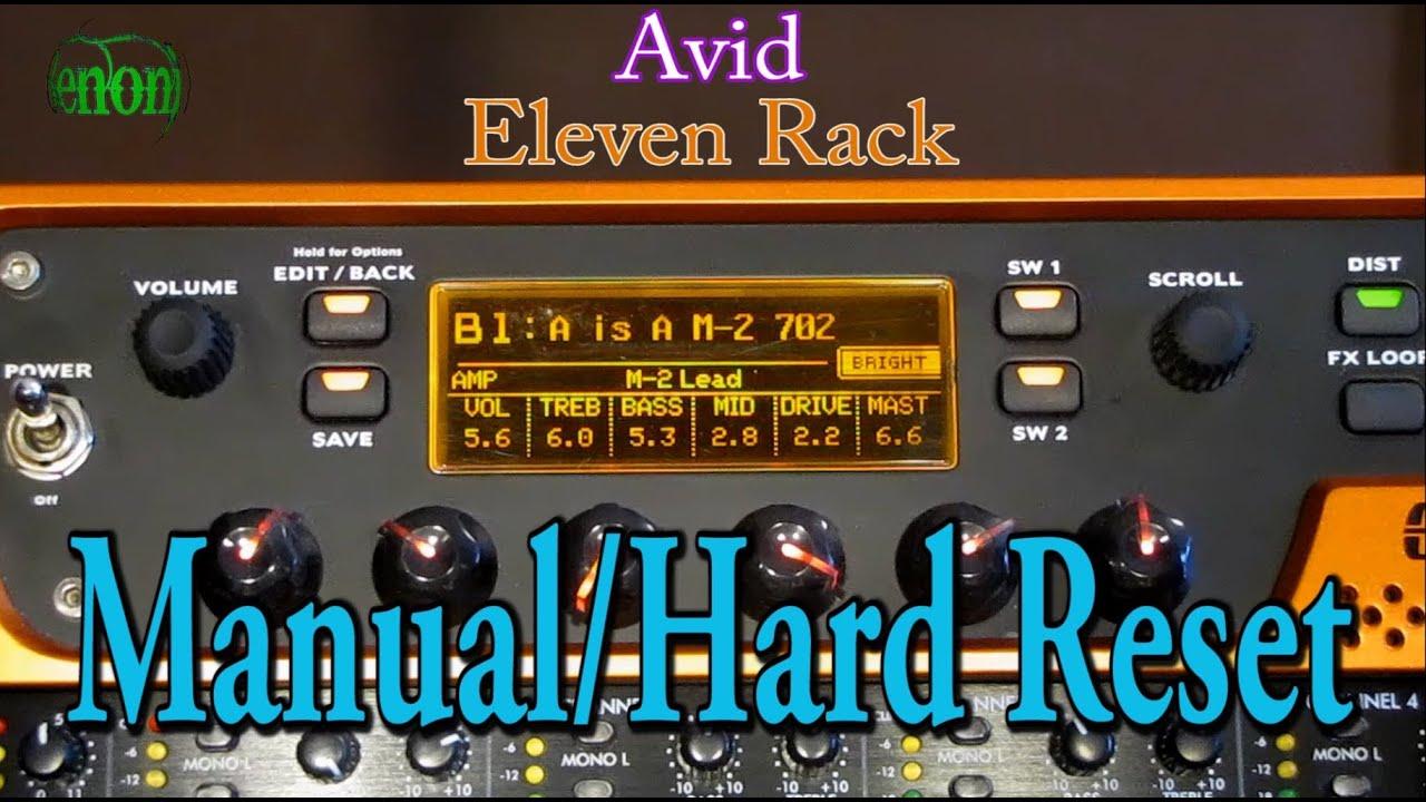 eleven rack manual hard reset youtube rh youtube com Eleven Rack vs Axe-Fx Sweetwater Eleven Rack Presets