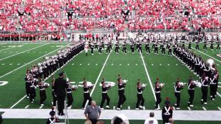 Ohio State Marching Band Ramp and Pregame 9 27 2014 OSU vs UC TBDBITL