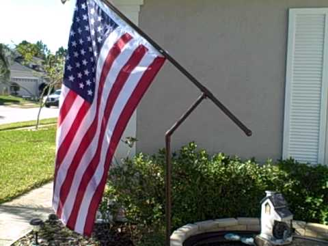 Rotating Pvc Flag Pole And Sasha Youtube