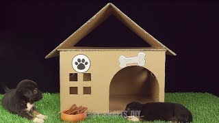 how to Build Easy Dog House from Cardboard, Easy Crafts Diy