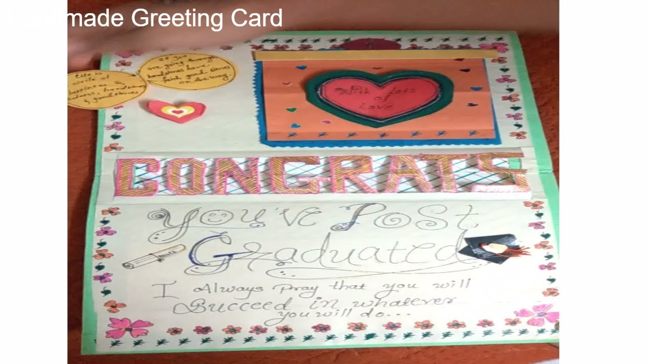 Handmade Greeting Card Congratulations Greeting Card Creative